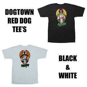 Details About Dogtown Skateboards Red Dog Black White T Shirt Tee M L Xl Thrash Skate New