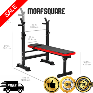 Adjustable Weight Bench Press Barbell Rack Exercise Strength Training Workout Ebay