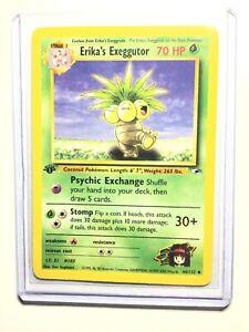 NM Erika's Exeggutor 1st Edition Gym Heroes Uncommon Pokemon Card 44//132