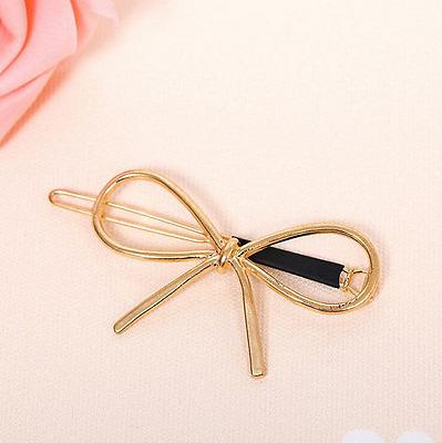Women Fashion Cute Gold Silver Geometry Moon Hairpin Hair Clip Hair Accessories