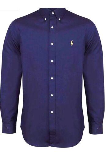 Ralph Blue Luxury Lauren Classic Shirt Navy Fit zqrzw4