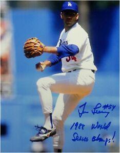 Tim-Leary-Signed-8X10-Photo-88-WS-Champs-Autograph-LA-Dodgers-Auto-1988-WS