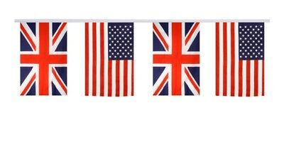 Freundschaftskette Fahnen Flaggen Deutschland USA 15x22cm