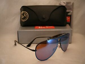 49874e7a807 Ray Ban 3581N Blaze Shooter Black w Dark Violet Mirror Lens (RB3581N ...