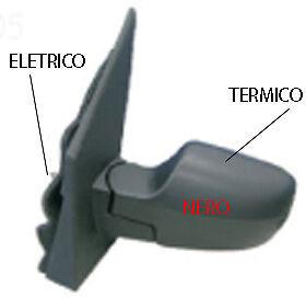 SPECCHIO SPECCHIETTO RETROVISORE ELETTRICO DX FORD FUSION 2002-2005 NERO TERM