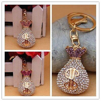 Full Rhinestone Purse Crystal Keychain Purse Bag Charm pendant Key chain YSK166
