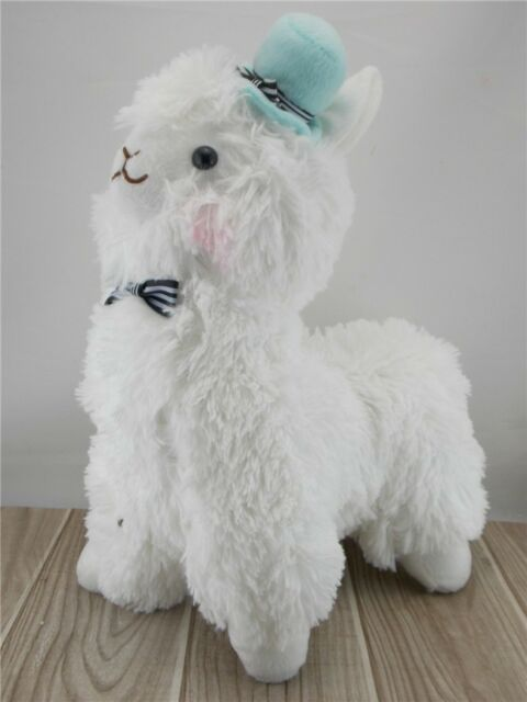 "14/""Japan Amuse Arpakasso Alpacasso Alpaca Plush Doll With Hat white"