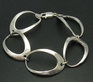 Stilvolles-Sterling-Silber-Armband-Ellipsen-massiv-punziert-925-handgefertigt