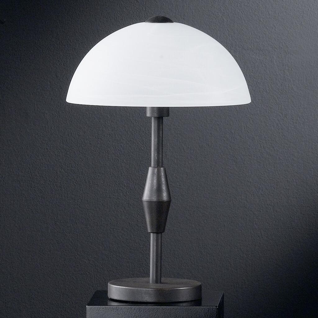 Mesa LED lámpara lámpara mesa de noche lámpara landhausttil Opal mesa de vidrio lámpara Touch dimmer