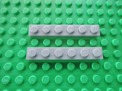 Lego 10 x Platte 3666 neu hellgrau   1x6