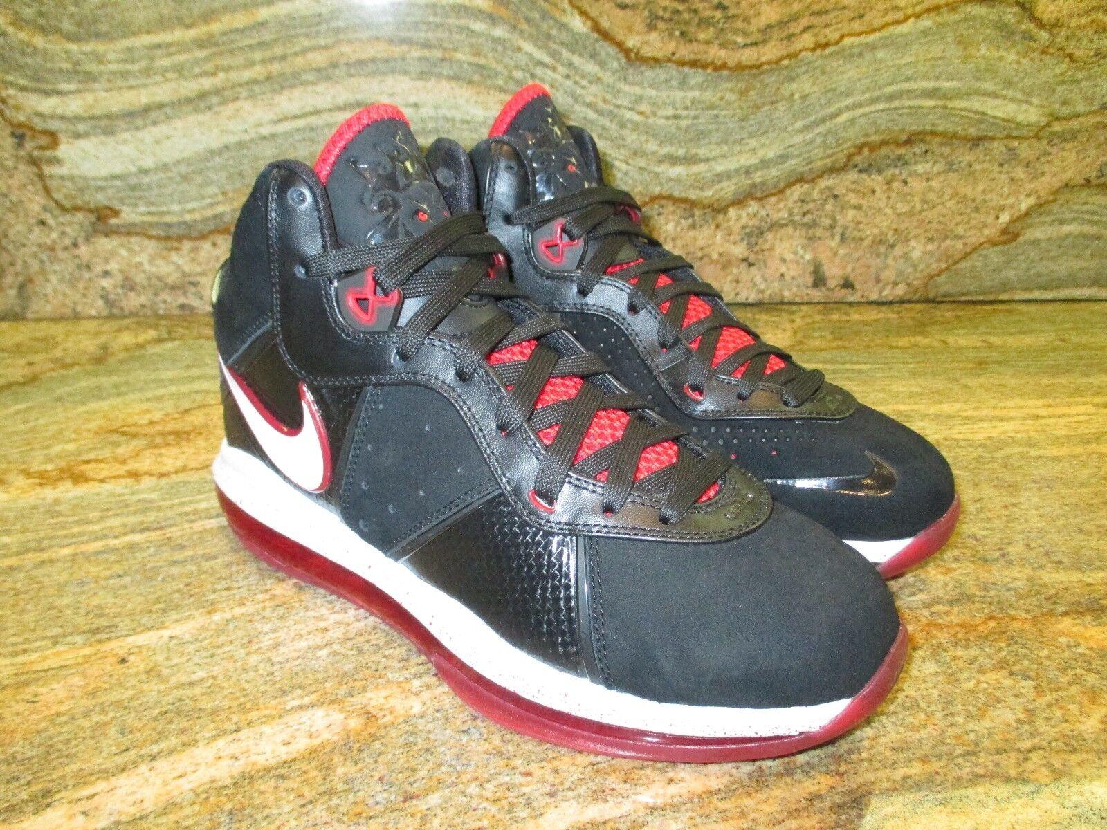 Nike Nike Nike lebron james 8 viii sz 9 promo - stichprobe schwarz - rot - miami heat elite 417098-002 02357c