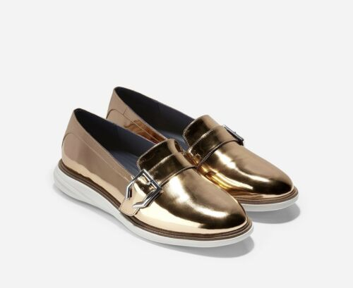 Gold Cole Evolution Strap New 5 Monk 5 Haan Rose Shoes Grande Womens Metallic 6wUq1wT