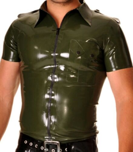 men pre owned latex Trooper shirt Libidex size L