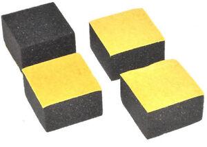 20mm X 12mm Deep Square Black Foam Bumpers Self Adhesive