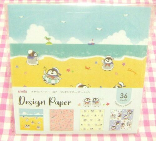 Penguin Summer Vacation 4 Design Paper amifa Japan 36 sheets