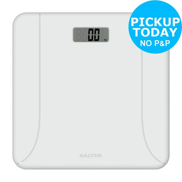 Salter Electronic Plastic Bathroom Scale Gloss White
