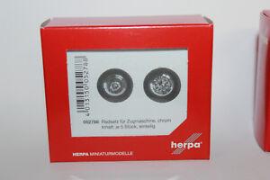 Herpa-052788-juegos-de-ruedas-para-tractor-de-sola-pieza-cromo-1-87-h0-nuevo-en-OVP