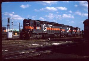 Original Rail Slide - ST Springfield Terminal Guilford 680+ S Port ME 6-12-1984