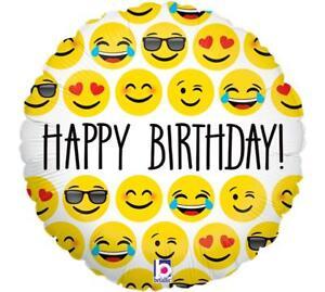 Image Is Loading Set Of 2 18 034 Happy Birthday EMOJI