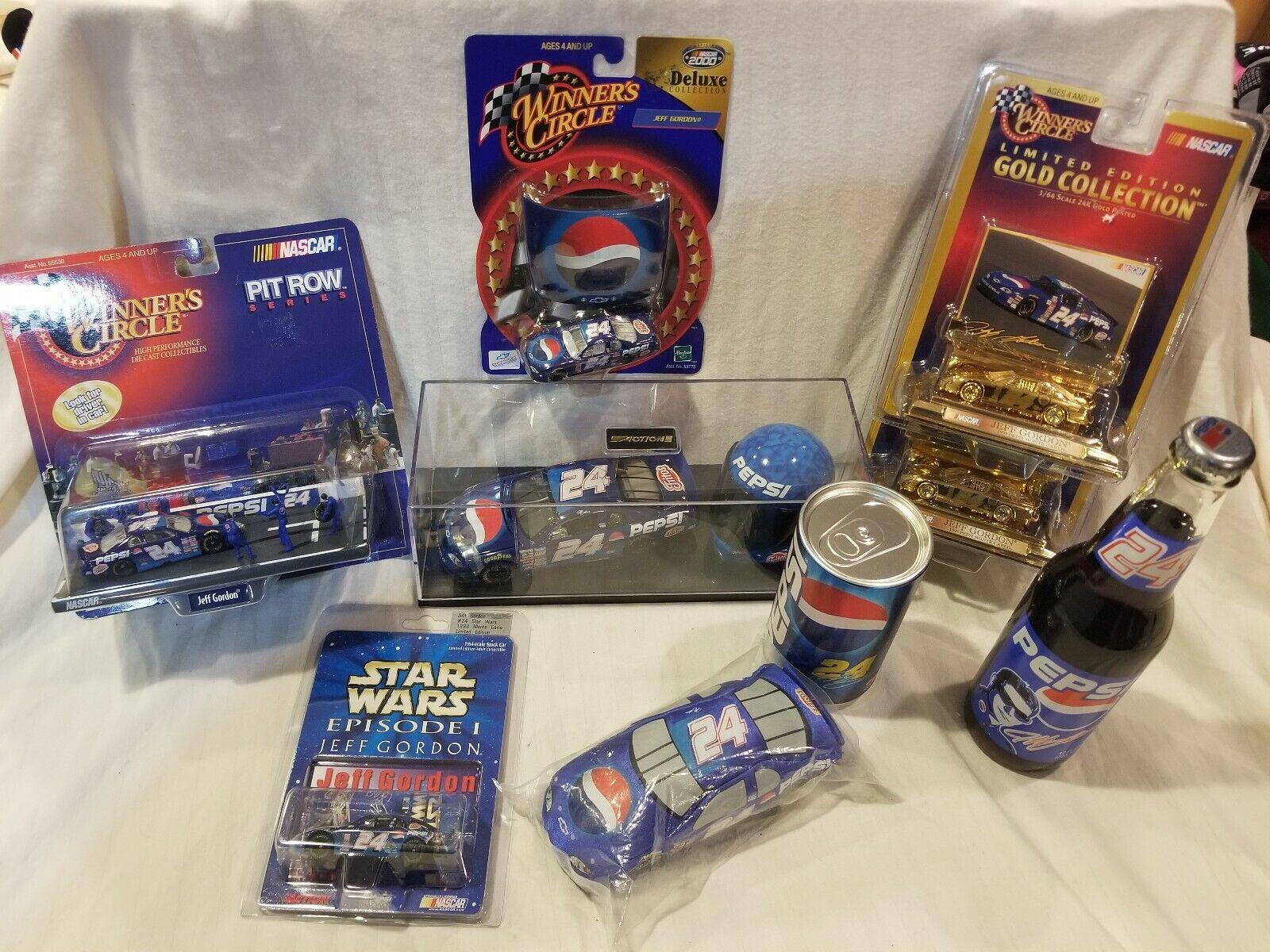Jeff Gordon 1997-98 Pepsi. Nascar  9 item Bundle (A2)