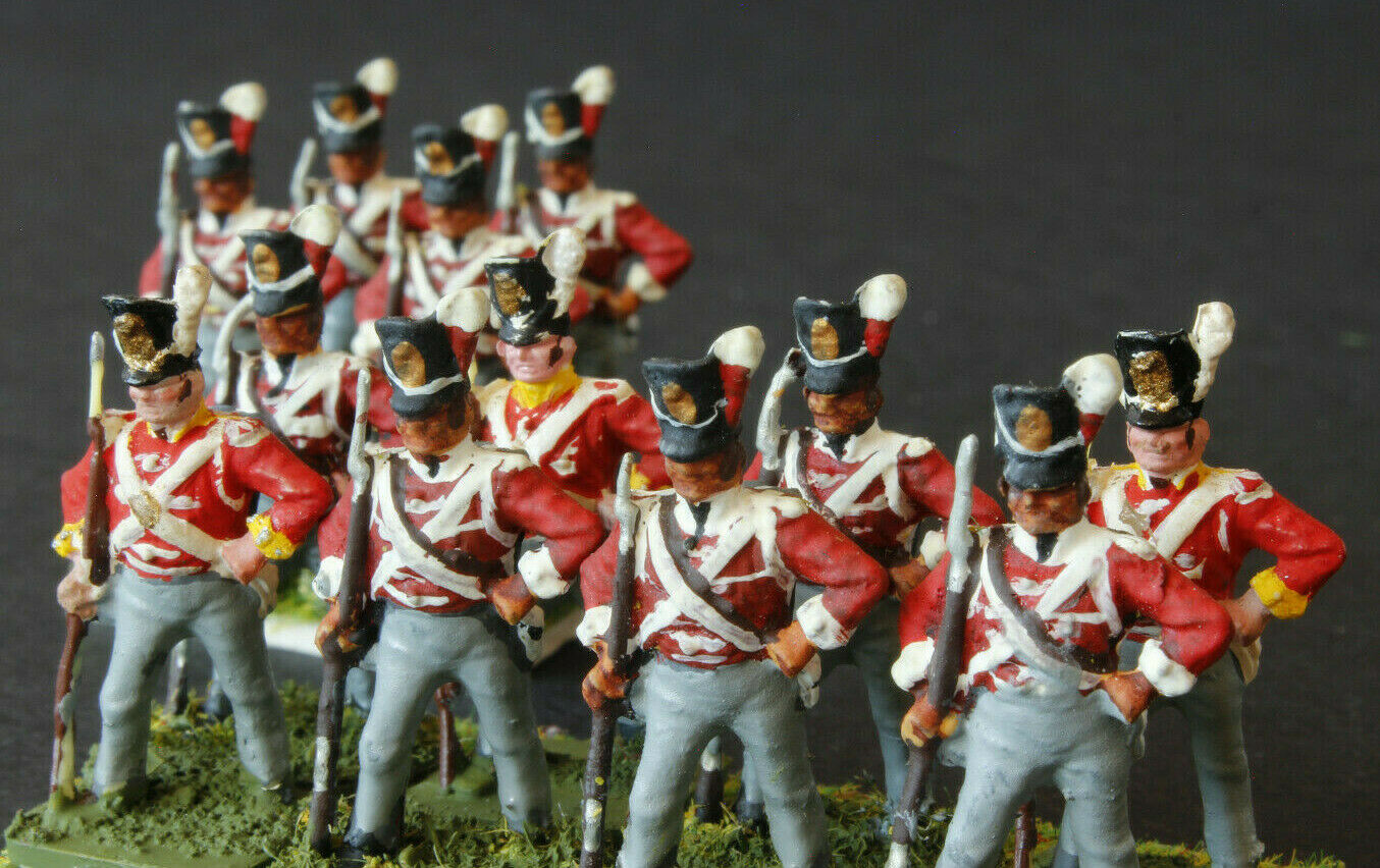 1 72 scale Superbly Painted 12 British Infantry Waterloo AIRFIX  Standing Based