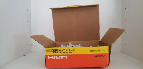 """1 box of 200 Hilti HPS 3//16/""""x 1 1//4/"""" Impact Anchor with Steel Screw."""