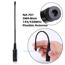 Dual-band 144/430MHz NA-701 SMA-Male Radio Antenna for Yaesu VX-2R Baofeng UV-3R