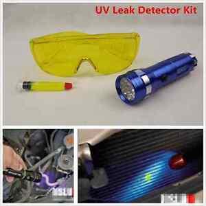 Led Flash Light Safety Glasses Uv Leak Detector Hvac A C
