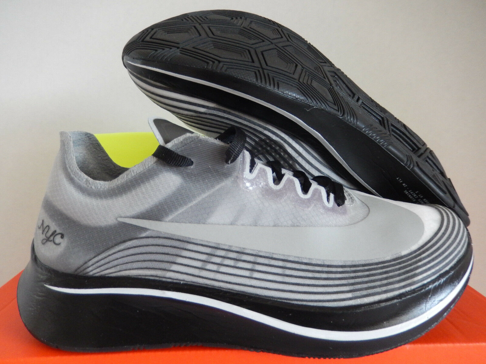 MENS NIKE NIKELAB ZOOM FLY NYC BLACK-BLACK-WHITE SZ 4 [AH5088-001]