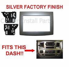 Dodge Ram 2006-2010 Silver Double Din Dash Kit Truck Car Stereo Radio Install
