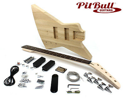 Pit Bull Guitars EXA-5 Electric 5-String Bass Guitar Kit - Ash Body