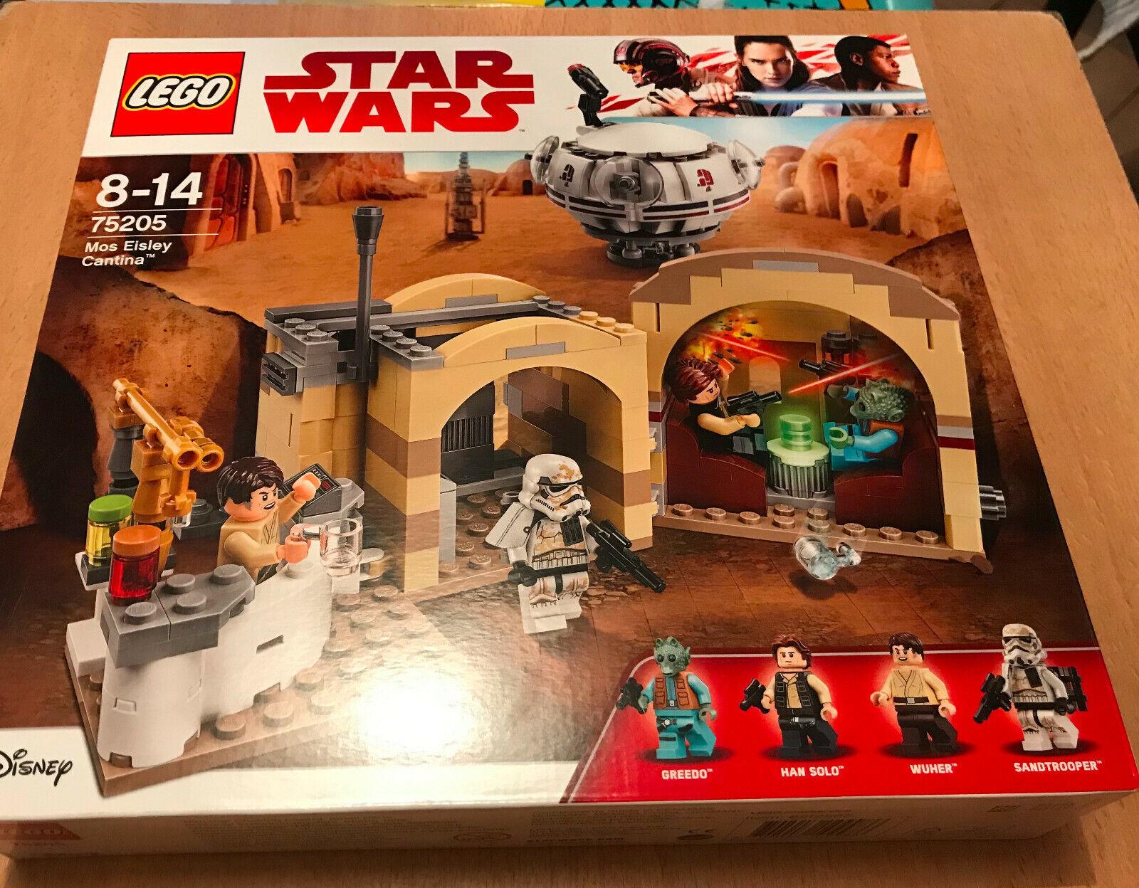 BOITE SET LEGO VAISSEAU STAR WARS 75205 LA CANTINA DE MOS EISLEY AVEC GREEDO