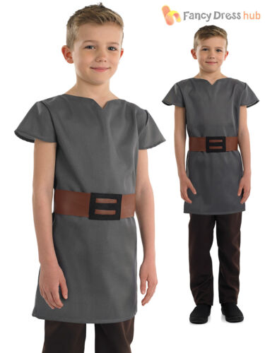 Boys Anglo Saxon Costume Childs Book Week Fancy Dress Historical Outfit Tunic