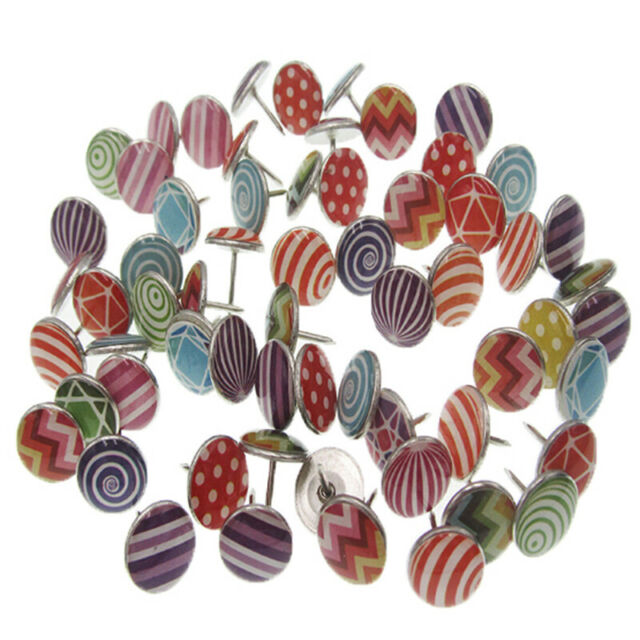 100Pcs creative fashion push pins decorative thumbtacks for wall maps WQ