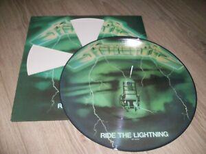 METALLICA RARE PICTURE RIDE THE LIGHTNING EXCELLENT ETAT