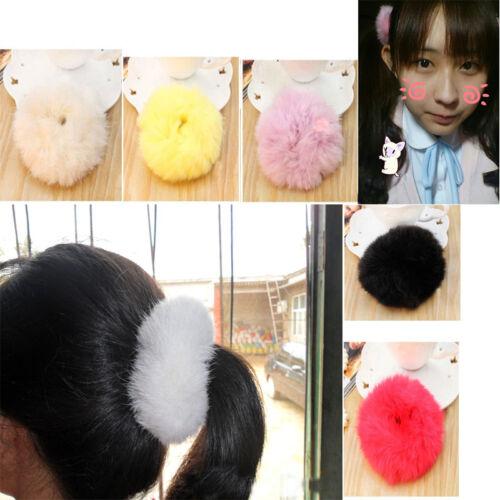 Imitate Fur Rabbit Hair Ring Super Elastic Hair Bands Women Hair Accessories