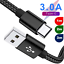 thumbnail 1 - 3-PACK Samsung Galaxy S8 S9 Plus Note 9 Fast Charging USB-C Type C Charger Cable