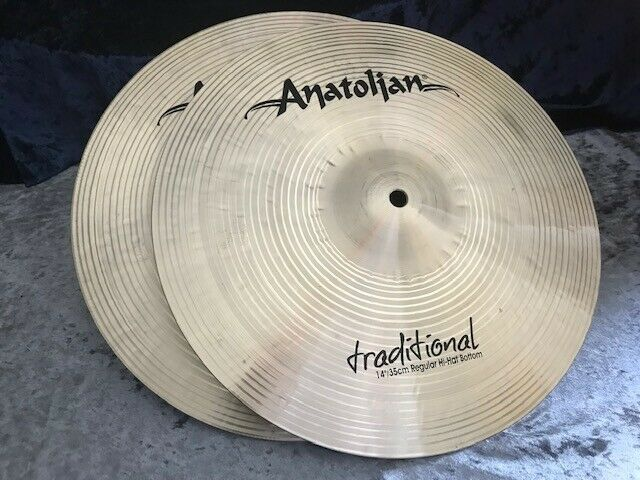 ANATOLIAN  Tradition Serie  14  Regular  HiHat Cymbals  aus ISTANBUL -  NEU