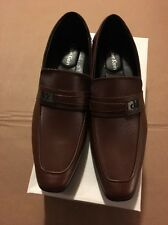 Calvin Klein Men's British Tan Bartley Diamond Leather Loafer Shoe SZ: 10.5