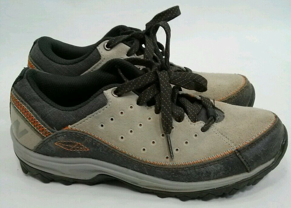 Womens Dark NEW BALANCE Light and Dark Womens Gray with Orange ABZORB Size 5.5 Hiking Shoes bf16eb