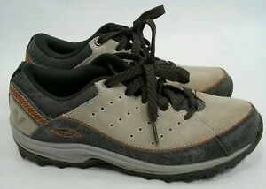Womens NEW BALANCE Light and Dark Gray with Orange ABZORB Size 5.5 Hiking Shoes