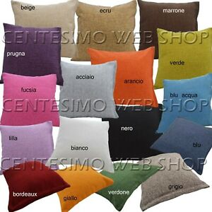 Fodera Per Cuscino 40x40 Cm 50x50cm 60x60cm Fodere Cuscini Arredo Divano Canapon Ebay