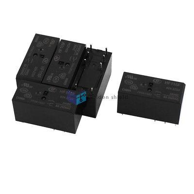 5Pcs HF-115F-024-2ZS4 8Terminal DPDT Dual Conversion Power Relay 24VDC 250VAC.