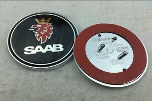 Auto-Fronthaube-Emblem-Aufkleber-Abziehbild-Abzeichen-Logo-fuer-SAAB-OE-12785870