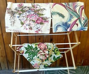 VINTAGE-Tropical-BARKCLOTH-Pillow-Cover-s-3-different-patterns-50-039-s-chic-fabric