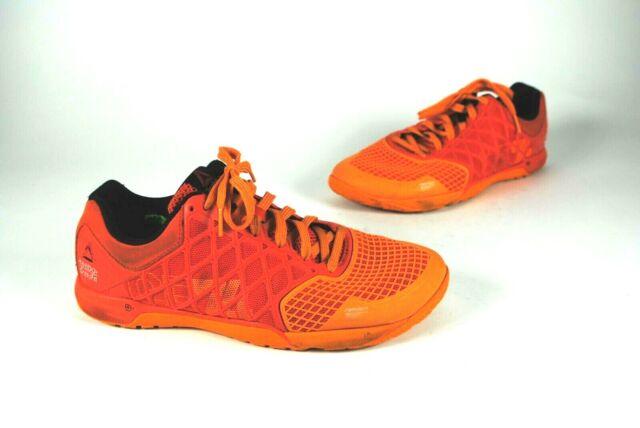 Reebok Men's Size 10 CrossFit CF74 Nano 4.0 Hazard Orange Shoes Sneakers 023501