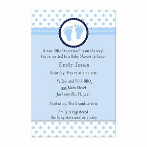 Details About 30 Superstar Invitation Cards Baby Boy Shower Invites Sports Personalized A1