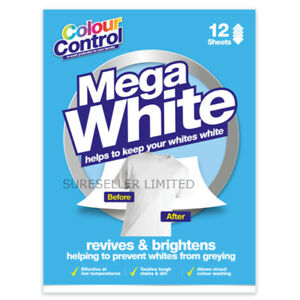 12x Clothes Whitener Washing Machine Sheets Mixed Colour