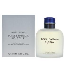 3102ff145c3 DG Light Blue Perfume by Dolce Gabbana 4.2 oz EDT 125 ml Men Tester ...