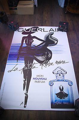 GUERLAIN LA PETITE ROBE NOIRE A 4x6 ft Shelter Original Vintage Fashion Poster